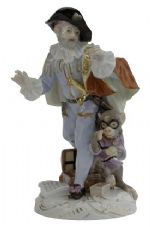 Meissen Porcelain Figurine - Doctor with Monkey